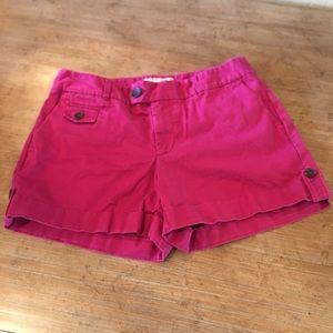 BANANA REPUBLIC Womens Pink Martin Fit Shorts Sz 2